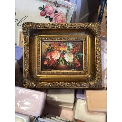 Schilderijtje met bloemen