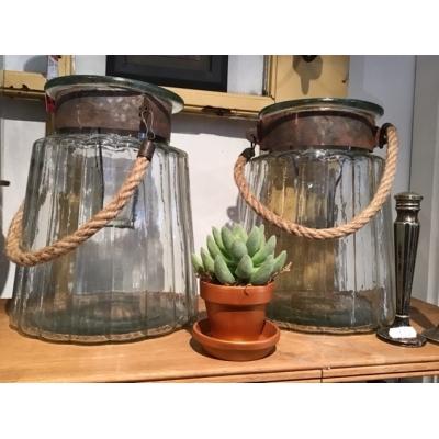 Lantaarn geribbeld glas