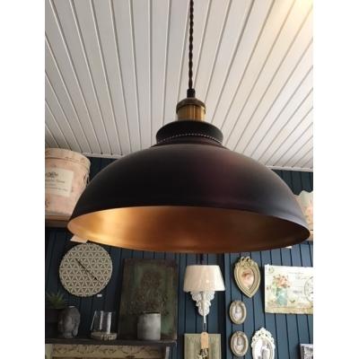 Hanglamp zwart met goud
