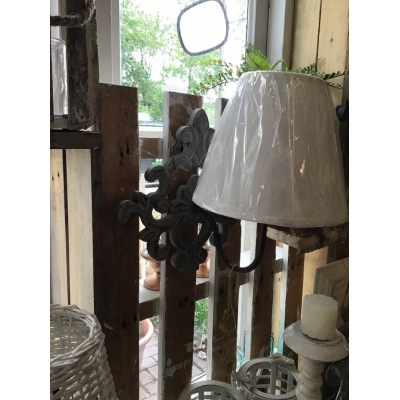 Wand lamp grijs ornament